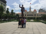 Danny, me, Sang, and Chad at the Ho Chi Minh City Hall